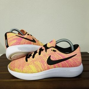 Nike LunarEpic Flyknit Multicolor Orange size 7.5